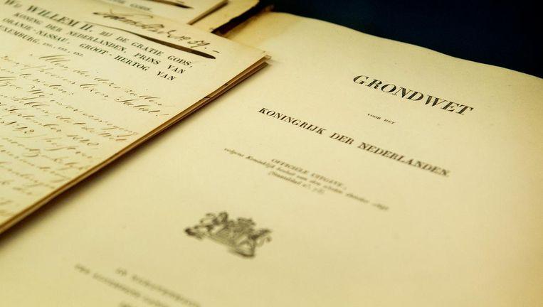 Eerste grondwet van het Koninkrijk der Nederlanden Beeld anp