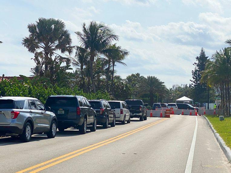 Een checkpoint nabij Mar-a-Lago