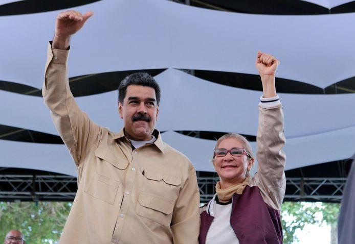 President Nicolás Maduro en zijn vrouw Cilia Flores.