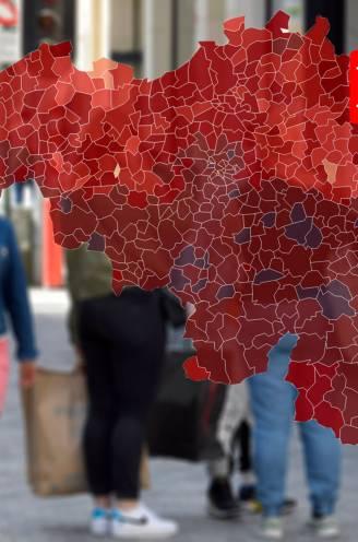 IN KAART. Alle provincies boven hoogst mogelijke alarmdrempel. Bekijk hier de coronasituatie in uw gemeente en regio