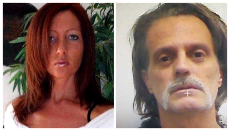 Slachtoffer Deborah Ballesio (39). Haar stalkende ex Domenico Massari (54) reed  afgelopen nacht naar de gevangenis en liet zich inrekenen.