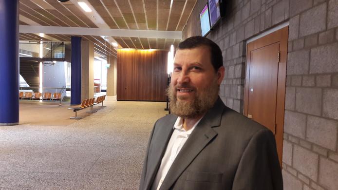 Imam Fawaz Jneid in de rechtbank vandaag.