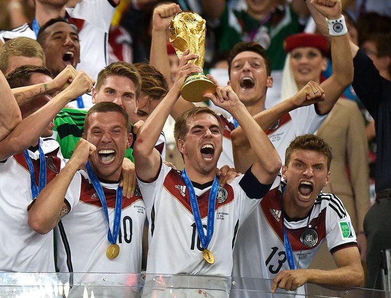 Duitsland schoot op het WK in Brazilië de hoofdvogel af.