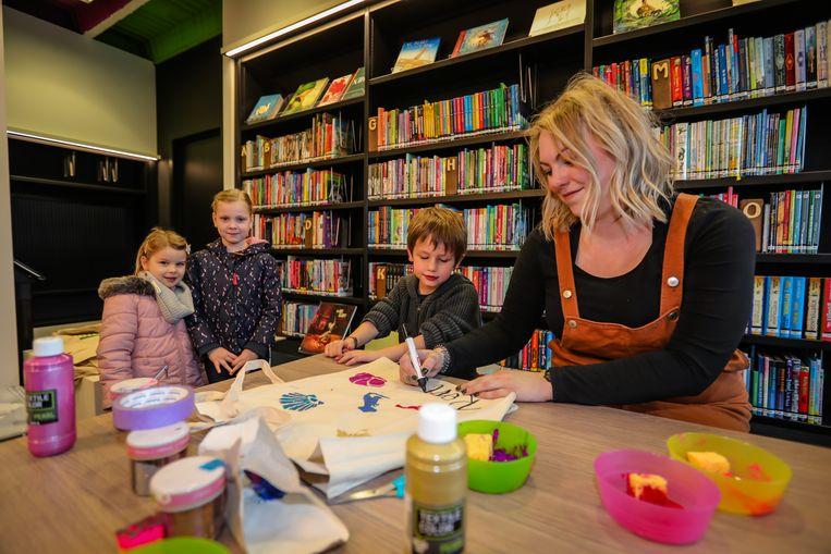 De vernieuwde bibliotheek in Eksel.