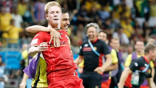 92e: De Bruyne profite d'une belle action de Lukaku pour (enfin) faire la différence.