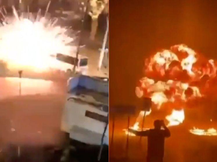 Relschoppers in Nederland blazen kleine brug op