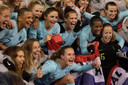 Vreugde bij de Oranje Leeuwinnen.