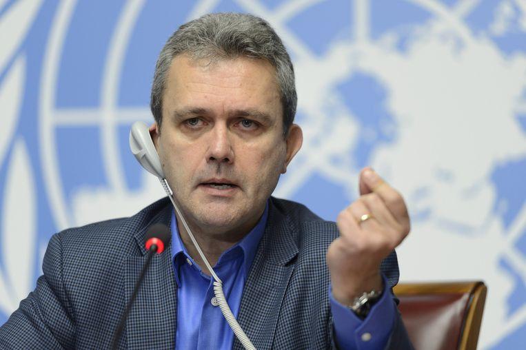 WHO-directeur Rick Brennan kondigde gisteren aan dat West-Afrika ebolavrij was verklaard. Hij waarschuwde wel dat er nog risico's waren. Beeld ap