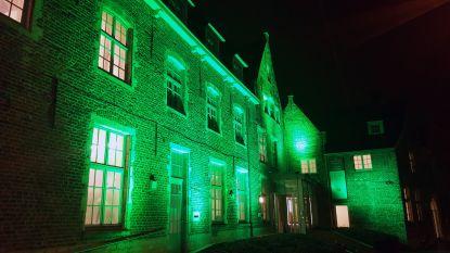 Iers college kleurt groen voor St. Patrick's Day