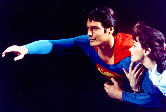 Christopher Reeve en Margot Kidder in Superman.