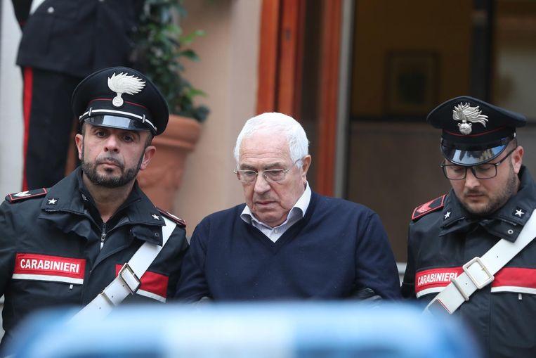 Settimino Mineo (midden) was de nieuwe baas van de Siciliaanse maffia.