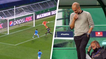 Dolle slotfase in City-Lyon: buitenspelgeur bij 1-2, onwaarschijnlijke misser Sterling en blunderende Ederson