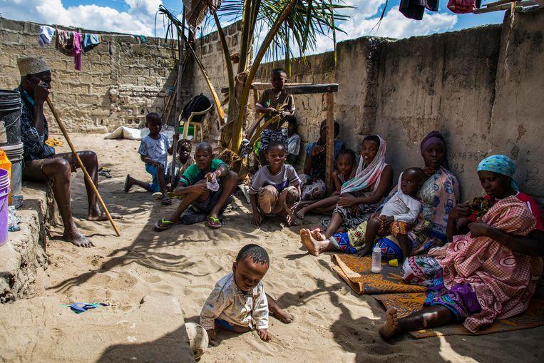 Het strijdtoneel ligt in de provincie Cabo Delgado, waar Islamitische militanten in de verarmde provincie al langere tijd legerbarakken, politieposten en scholen aanvallen. Beeld EPA