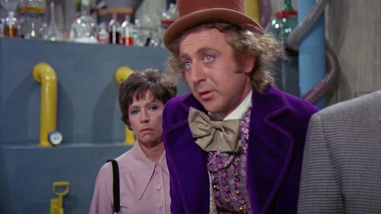 Gene Wilder in Willy Wonka & the Chocolate Factory (Mel Stuart, 1971). Beeld null