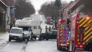 Grote Steenweg afgesloten nadat LPG-tank losscheurt bij ongeval
