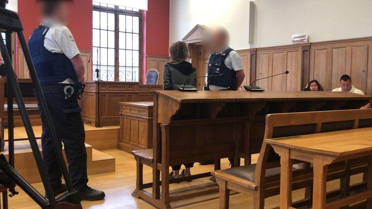 Tafelschuimster Nadine Willems in de Kortrijkse rechtbank.