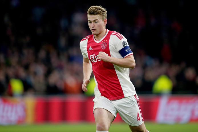 Matthijs de Ligt tijdens de thuiswedstrijd van Ajax tegen Juventus (1-1).