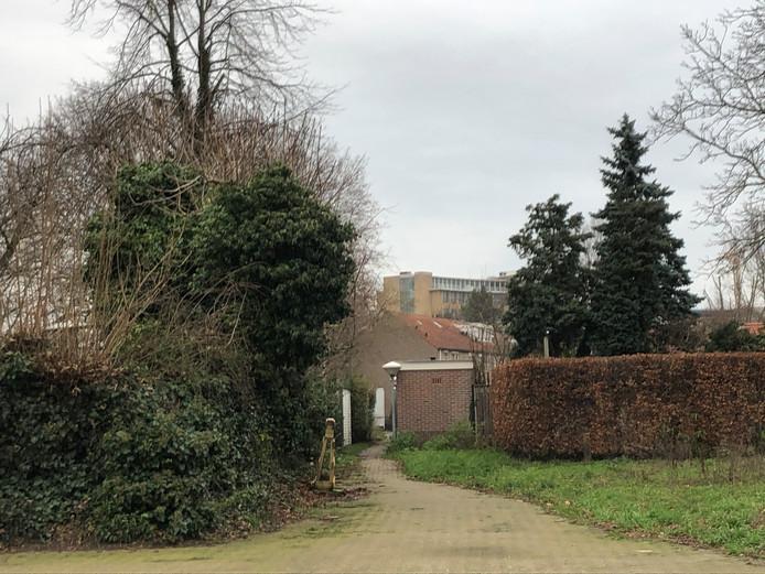 Het pad dat verdwijnt als het bouwplan van CPO Philipsdorp doorgaat.