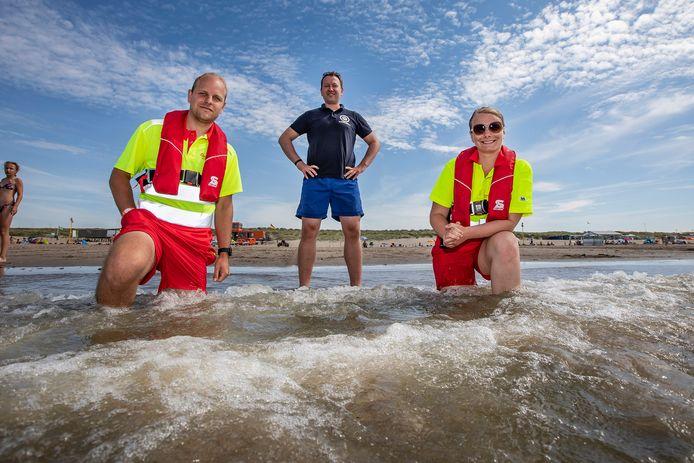 Robbert Zeeman, Roel Batelaan en Bea Kluin zijn vrijwilliger bij de Monsterse reddingsbrigade.