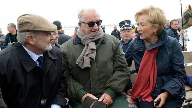 Raadgever Vincent Pardoen met koning Albert en koningin Paola.