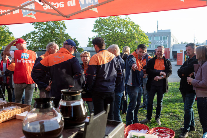 24-uursstaking bij PostNL In Den Bosch.