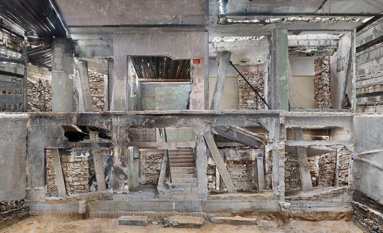 Verwoest huis Gaza 3 (2017). Beeld Marjan Teeuwen