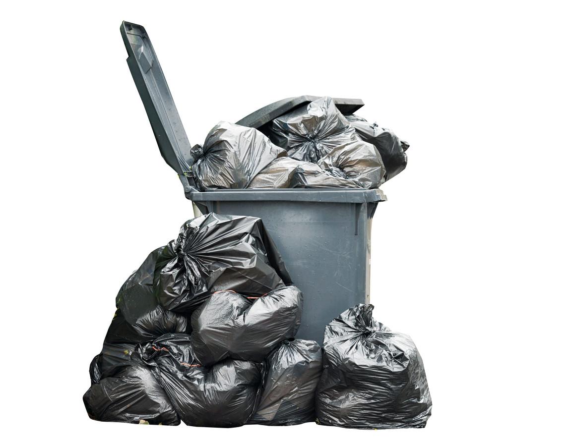 vuilnis vuilniszakken stock afval rommel  vrijstaand gemaakt