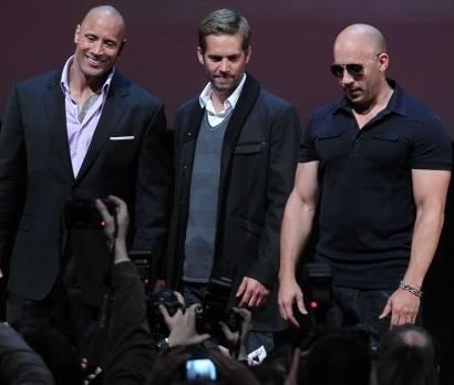 Dwayne Johnson, Paul Walker en Vin Diesel.