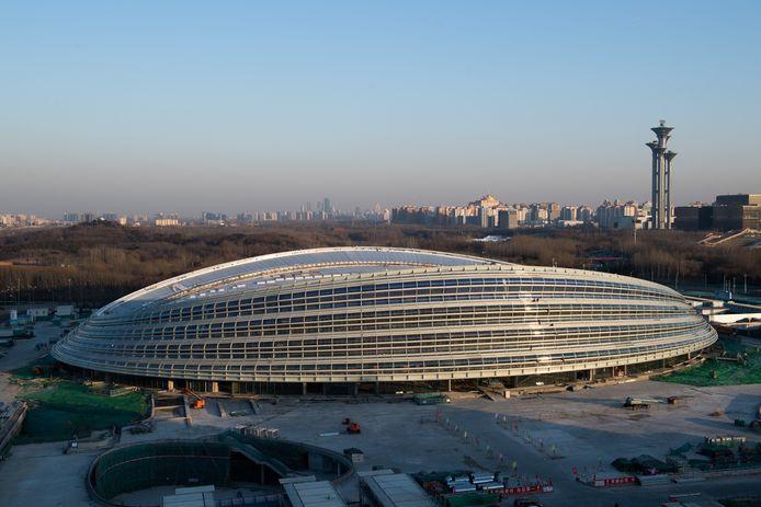 De National Speed Skating Oval in Peking.