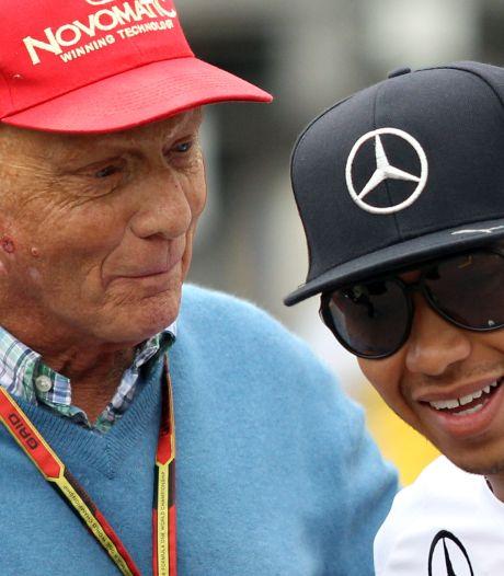 Hamilton dankt Lauda: 'Zonder jou had ik niet bij Mercedes gezeten'