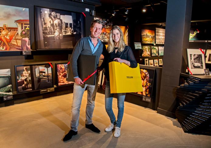 Kunstgalerij YellowKorner eigenaren Djurre en Anne-Fleur Jansen.