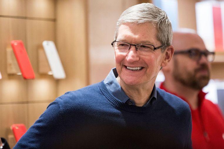 Tim Cook, CEO van Apple. Beeld afp