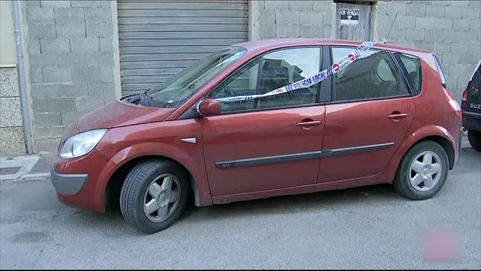 De auto waarin het meisje stierf.