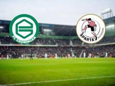 LIVE | Middenmoters FC Groningen en Sparta begonnen in hoge noorden