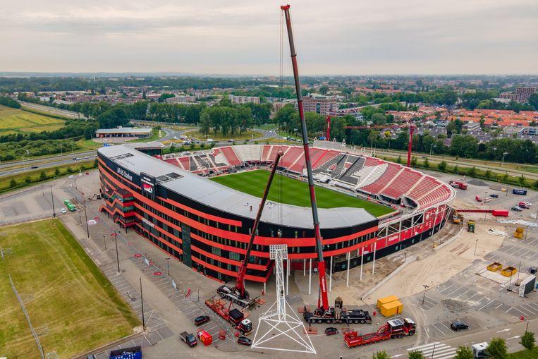 Het AZ stadion in Alkmaar.  Beeld BSR Agency