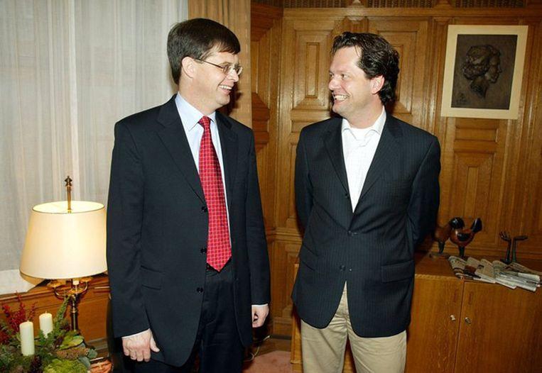 Met voormalig premier Balkenende Beeld Helene Wiesenhaan
