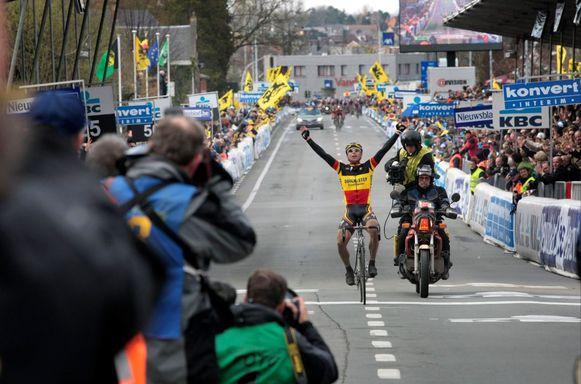 Devolder wint de Ronde van Vlaanderen in 2008.