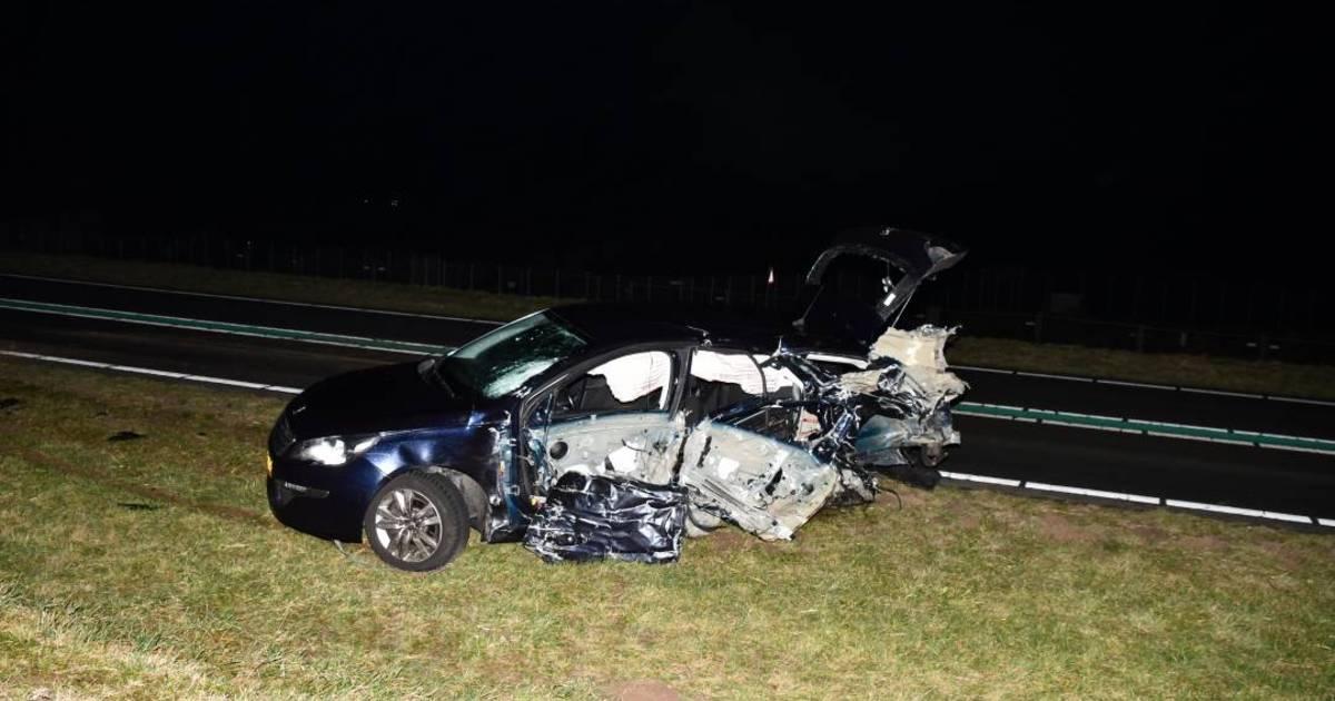 Twee gewonden bij zwaar ongeluk op Grevelingendam.