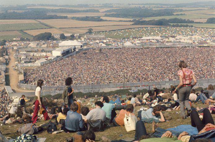 """Mede door het enthousiasme over Woodstock trok Urbanus een jaar later naar het Isle of Wight-festival. """"Ik had niet betaald, dus keek vanop een heuvel. Optredens zag ik amper, al waren er wel veel meiskes met blote borsten."""""""