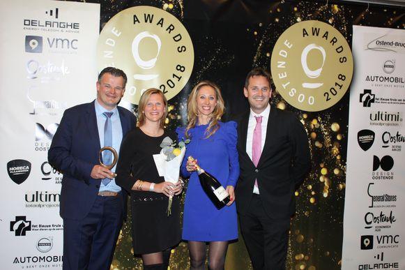 C-hotels kreeg de award voor de renovatie van het Upstairs Hotel