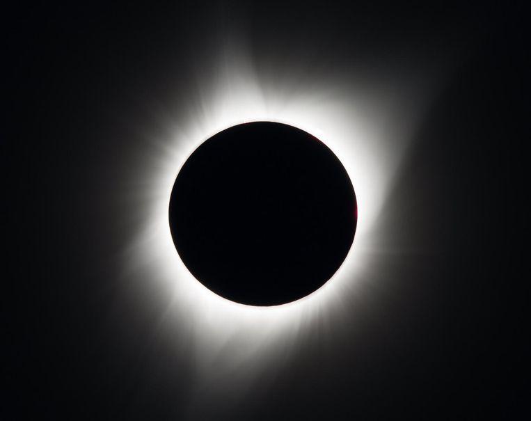 De zonsverduistering in de Amerikaanse staat Oregon. Beeld NASA/Aubrey Gemignani