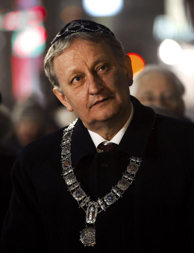 Eberhard van der Laan werd burgemeester van Amsterdam Beeld anp