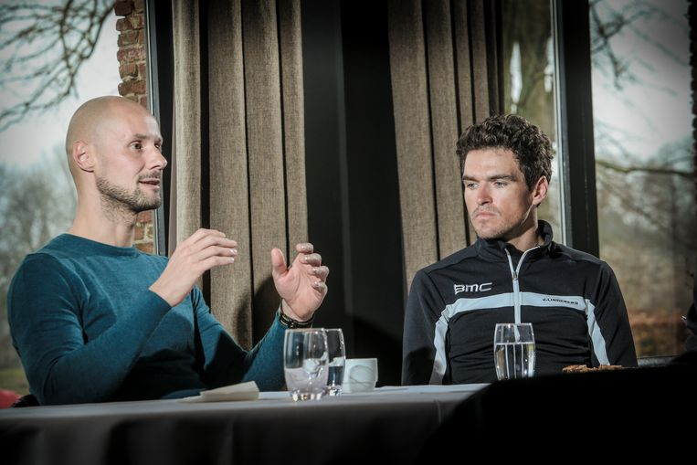 Tom Boonen en Greg Van Avermaet.