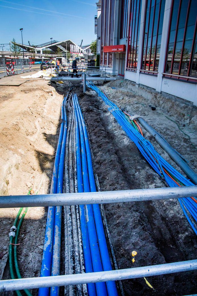 Het werk aan de Spoorlaan loopt - in verschillende fases - nog door tot in 2020. De straat wordt meteen ook heringericht, daarom duurt het werk zo lang.