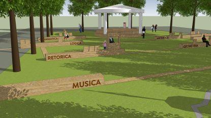Tijdelijke invulling Hogeschoolplein: meer gras en educatieve panelen