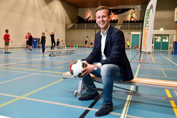 Arjen Hop wil meer mensen aan het sporten krijgen.