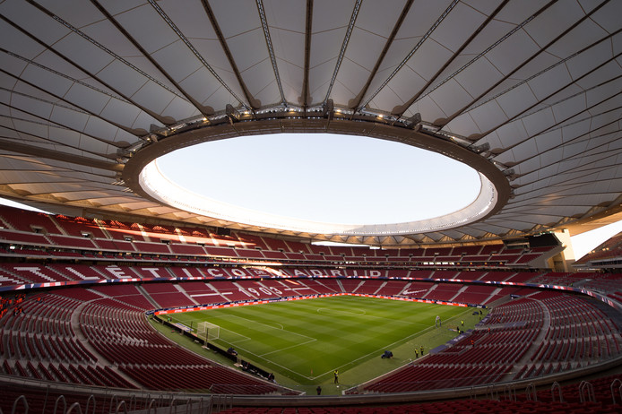 Het Estadio Wanda Metropolitano in Madrid.