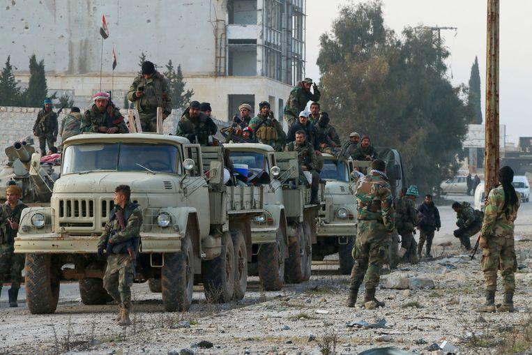 Syrische troepen in het gebied.