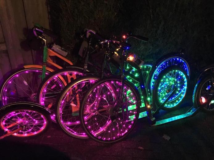Verlichte fietsen in 2015.