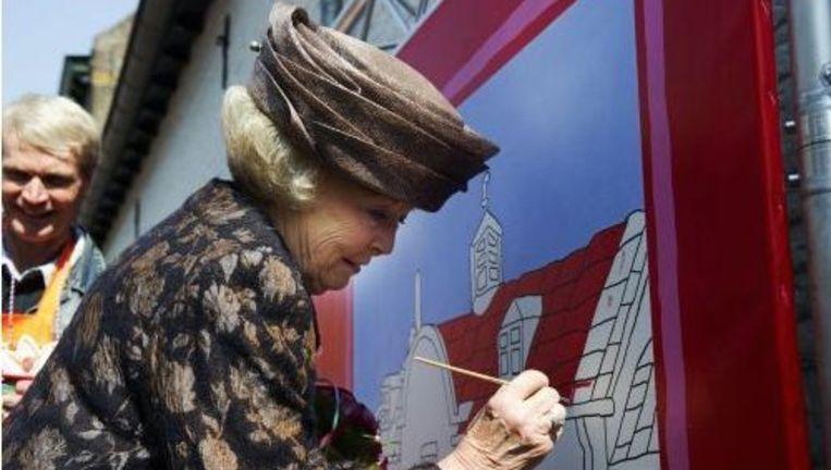 Koningin Beatrix in Thorn. Foto: anp Beeld
